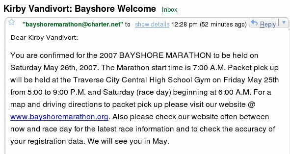Marathon Confirmation